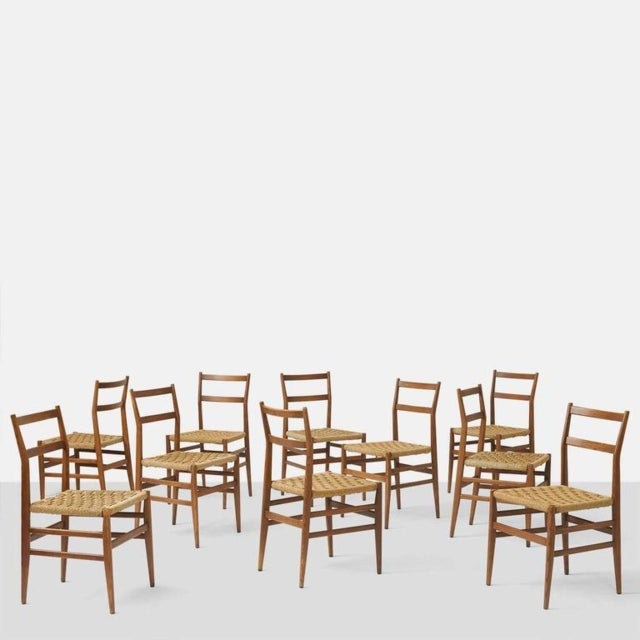 Set of Eight Leggera Chairs by Gio Ponti for Cassina For Sale - Image 9 of 9