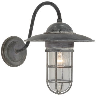 Circa Lighting Marine Sconce in Zinc For Sale