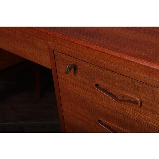 Danish Mid Century Modern Teak Desk For Sale - Image 10 of 13