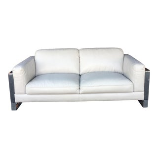 Vintage 1960s Modern Chrome Sofa For Sale