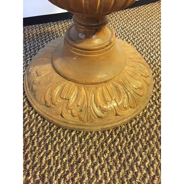 Chinoiserie Style Center Table with Eglomise Glass Top on a Single Pedestal For Sale - Image 10 of 10