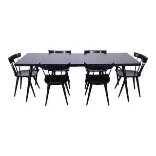 Paul McCobb for Planner Group Ebonized Extension Dining Table & Six Chairs For Sale