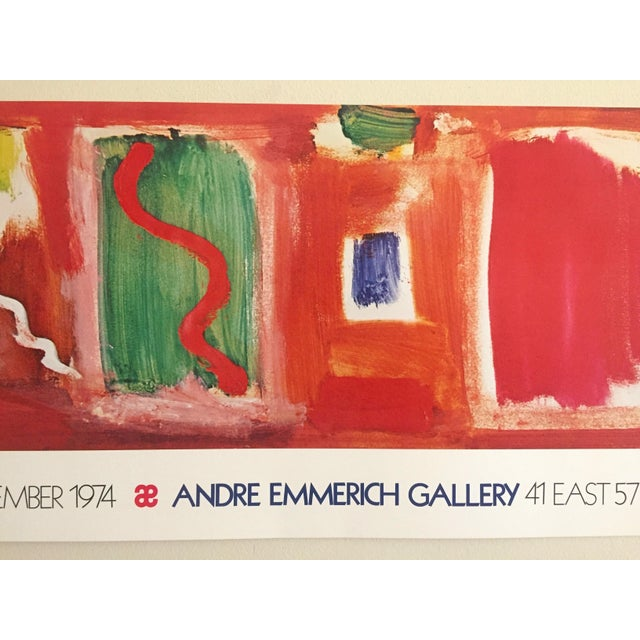 Various Artists Hans Hofmann Vintage 1974 Abstract Expressionist Lithograph Print Exhibition Poster For Sale - Image 4 of 9