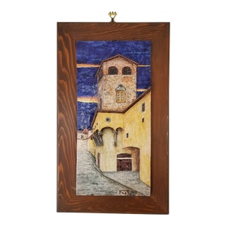 Italian Frattagli DI Fierenze Wall Art Tile. For Sale