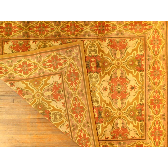 "Traditional Indo Amristar Design Rug - 7'11"" X 10'2"" For Sale - Image 3 of 4"