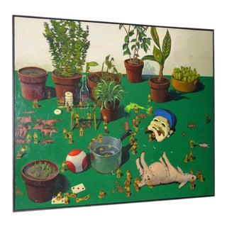 Jason Godeke Monumental Surreal Still Life Oil Painting C.1995