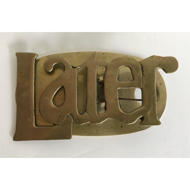 Contemporary 20th Century Contemporary Brass Later Clip For Sale - Image 3 of 3