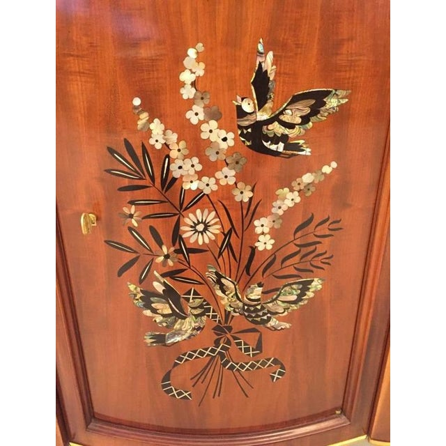 Jules Leleu French Art Deco Mother-of-Pearl Inlay Butterfly Buffet For Sale - Image 10 of 10