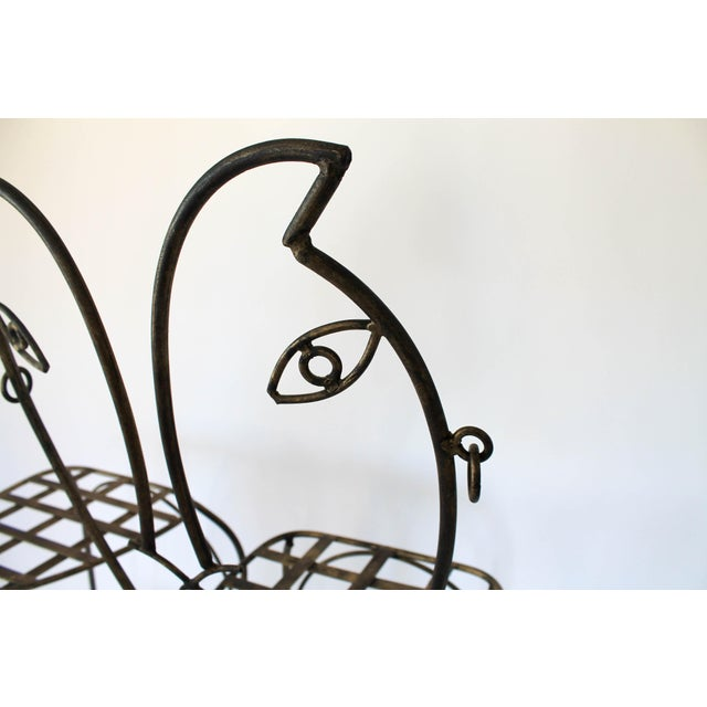 Figural Iron Chairs in the Style of John Risley For Sale - Image 9 of 13