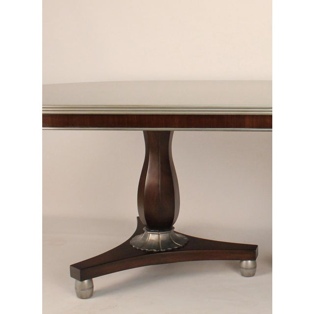 Transitional Silver Painted Dining Table - Image 2 of 3