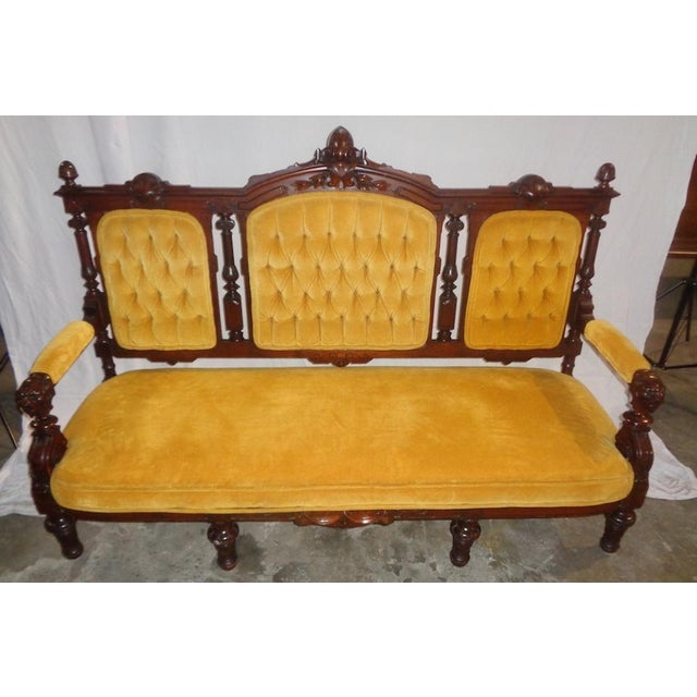 Traditional Edwardian Sofa For Sale - Image 3 of 4