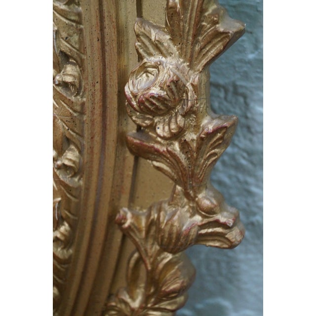 Carved Gilt Wood French Louis XV Style Mirror - Image 9 of 10