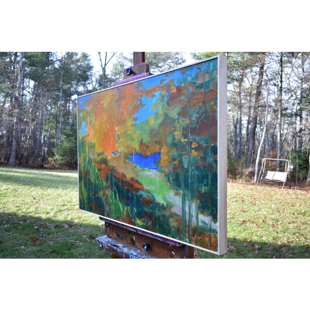 """Green Stephen Remick """"Path to the River"""" Painting For Sale - Image 8 of 11"""