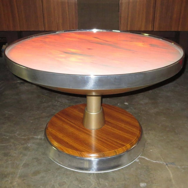 1970s Nino Zoncada for SS Stella Solaris Cruise Ship Illuminated Side Table For Sale In Los Angeles - Image 6 of 6