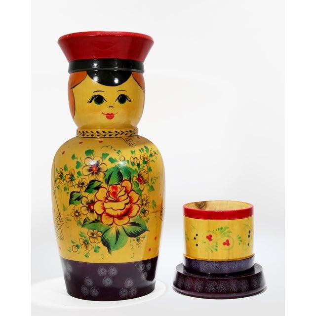 1950s Vintage Russian Bottle Holding Soldier Dolls, Set of 2 For Sale - Image 5 of 11