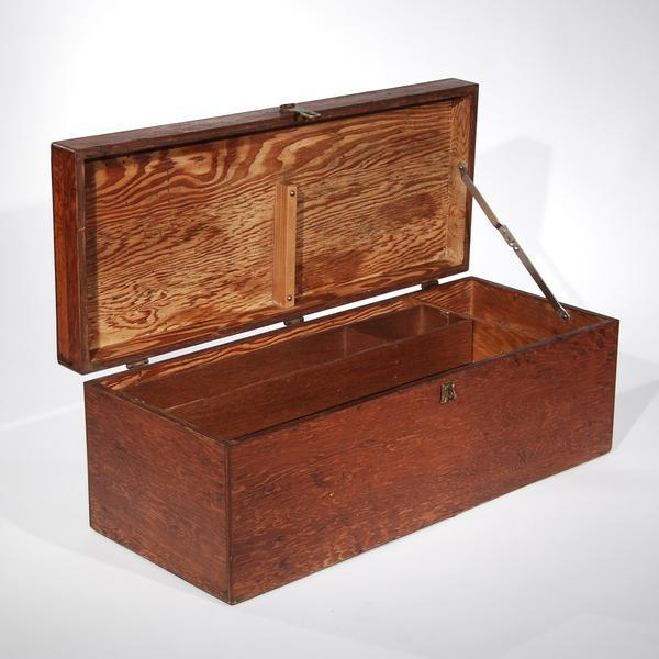 Mid-Century Travel Trunk For Sale - Image 9 of 11