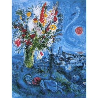La Dormeuse aux Fleurs, Limited Edition Offset Lithograph, Marc Chagall For Sale