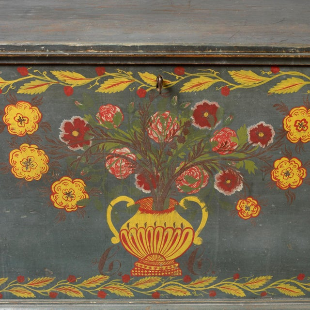 Paint Decorated Blanket Chest - Image 3 of 3