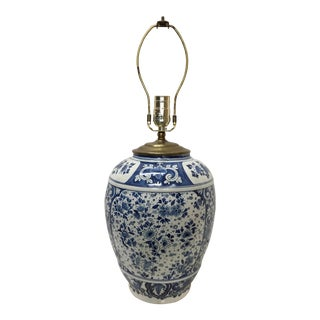 Vintage Delft Style Lamp For Sale