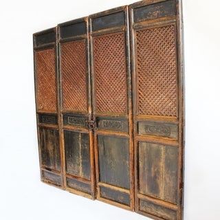 Antique Chinese Screen Door Panels- Set of 4 Preview