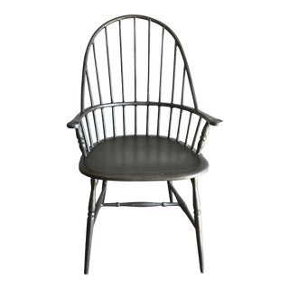 Modern Windsor Metal Armchair For Sale