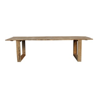 Imposing Long Modern Organic Dining Table For Sale