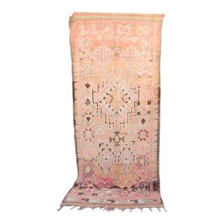 """Beni M'Guild Vintage Moroccan Rug, 5'3"""" X 12'6"""" For Sale"""