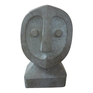 Mid-Century Modern Modigliani Style Carved Stone Sculpture For Sale