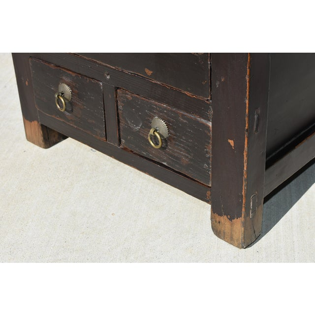 Antique Small 3 Drawers Heavy Chest For Sale - Image 12 of 13