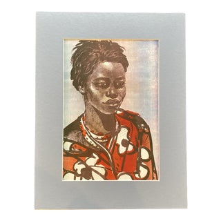 """1953 """"Basuto Woman"""" Rosa Hope South African Figurative Lithograph For Sale"""