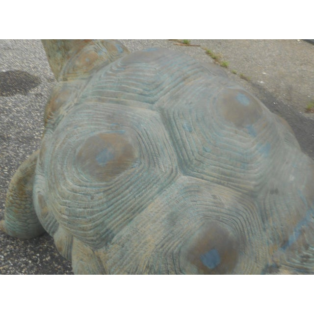 Bronze Enormous Bronze Turtle Fountain For Sale - Image 7 of 13