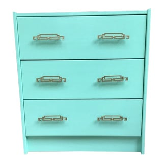 Asian Inspired Mint Green Painted Dresser