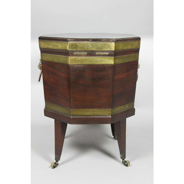 George III Mahogany and Brass Mounted Cellerette For Sale - Image 10 of 11