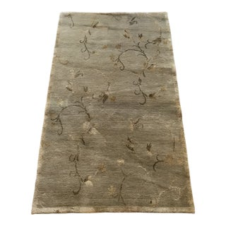 Hand Woven Oriental Silk Wool Rug - 5′ × 3′ For Sale