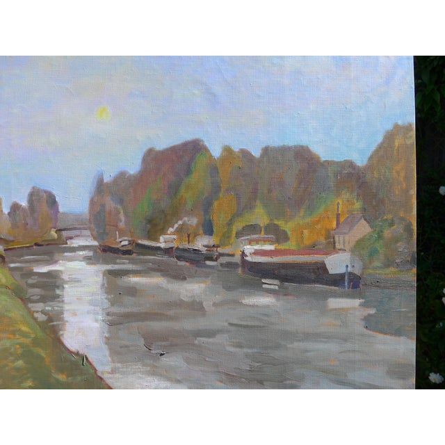 H. Curcuru French River Scene Painting - Image 2 of 4