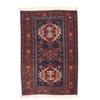 Antique Hand Made Karajeh Heriz Persian Rug - 3′ × 5′ For Sale