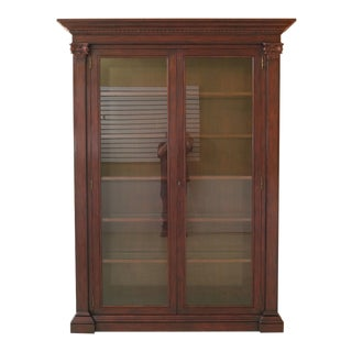 Traditional Ralph Lauren Large Mahogany 2 Door Bookcase Curio Cabinet For Sale