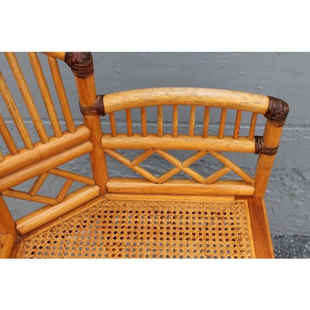Vintage Palm Beach Regency Rattan Armchair For Sale - Image 10 of 11