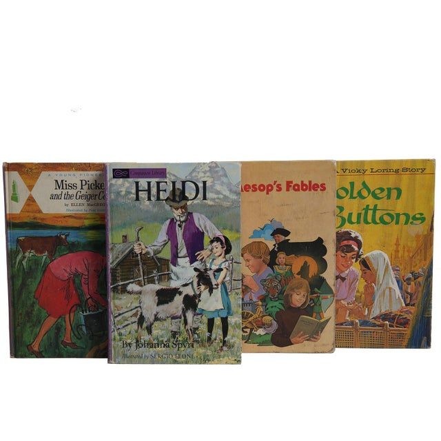 "Midcentury Book Gift Set: ""Lilac"" Stories For Girls - Set of 6 - Image 4 of 5"