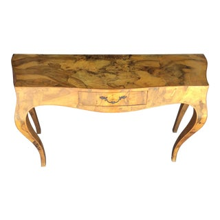 Spalted Elm Console Table For Sale