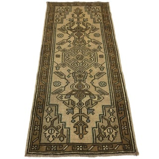 Vintage Hand-Knotted Oushak Carpet | 1'8 X 3'8 For Sale