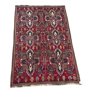 Vintage Persian Gabbeh Rug - 5′2″ × 7′9″ For Sale