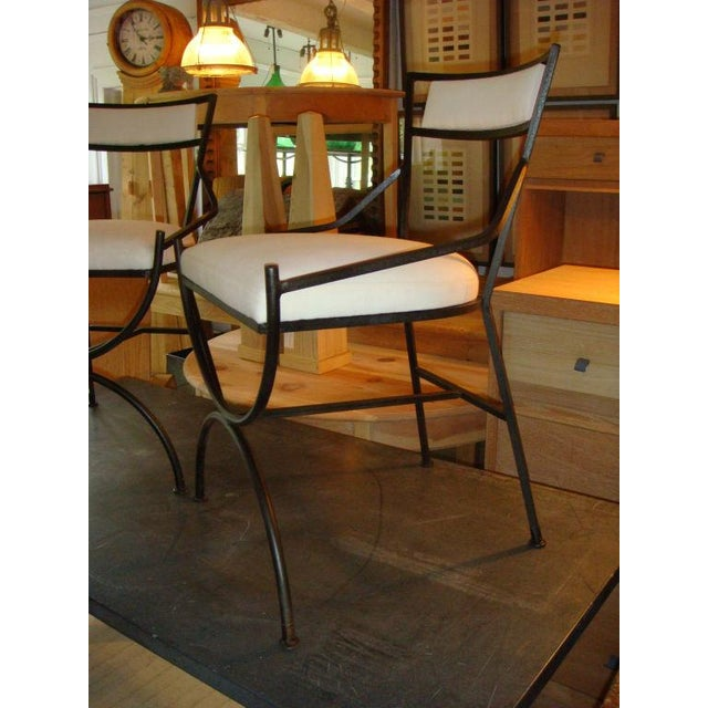 Pair of Mid Century Iron Chairs - Image 4 of 8