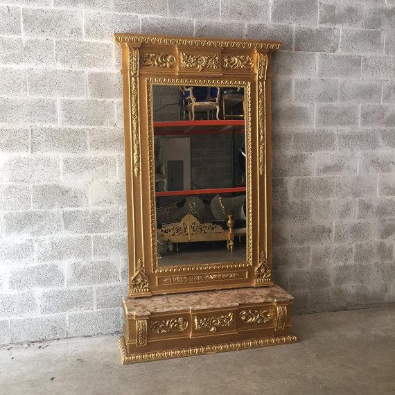 Special made French mirror that describe Louis XVI style. The mirror is in good condition, no marks to the mirror and no...