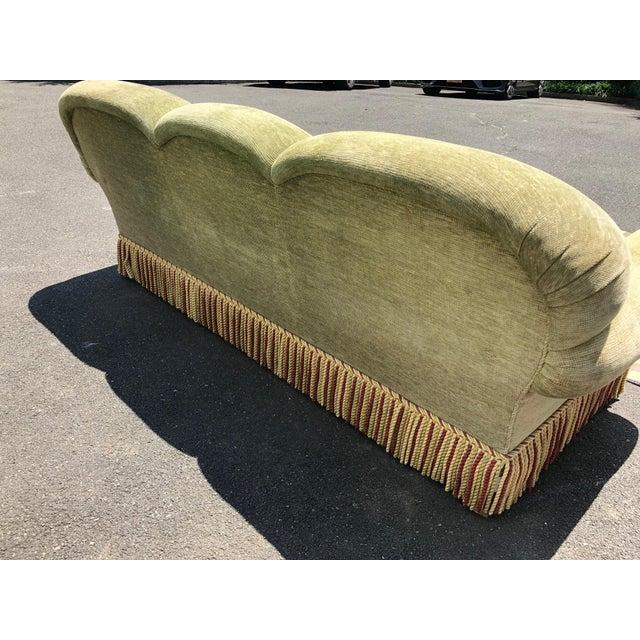 1990s Vintage Edward Ferrell Green Fringe Sofa For Sale - Image 10 of 13