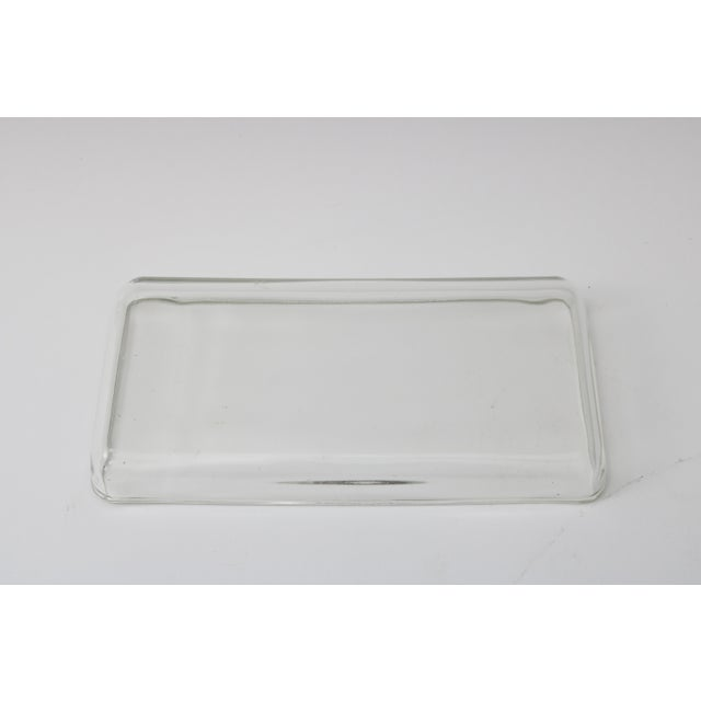 Mid 20th Century William Higgins Artisan Blue & Green Glass Box For Sale - Image 5 of 7