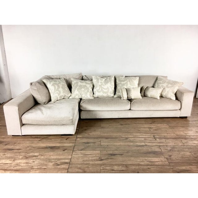 Minotti Mid Century Modern Style Italian Upholstered Sectional Sofa For Sale - Image 13 of 13