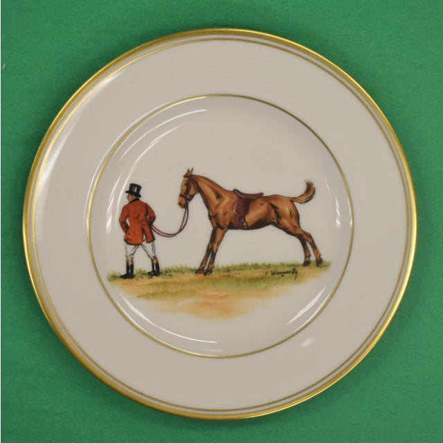 1950s Vintage Frank Vosmansky for Abercrombie & Fitch Mfh Huntsman Plate For Sale In New York - Image 6 of 6