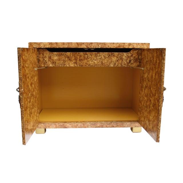 Asian Henredon Faux-Tortoise Cabinet For Sale - Image 3 of 10