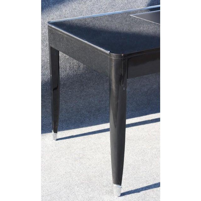 Late 20th Century Black Ralph Lauren One Fifth Paris Bureau Plat Writing Table Desk For Sale - Image 5 of 11